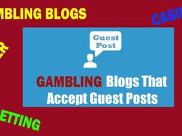 10 Guest Post for Gambling |Casino | Sports | Betting Sites DA40