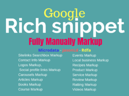 Any Page Or Product Schema, Rich Snippets, Structured Data Marku