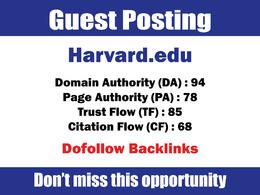 Write & Publish Guest Post on Harvard, Harvard.edu DA94 Dofollow