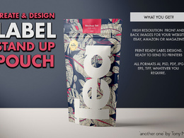 Design a stand up pouch label design