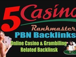 Dofollow Backlinks from Poker, Gambling, Online Casino sites
