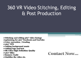 Do 360 VR Video Editing And Post Production
