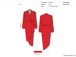 Fashion design tech pack, design specification