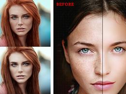 Professionally skin retouching or enhancement 3 photos