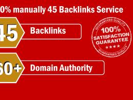 Provide 45 Backlinks from High DA-60+ Domains-Skyrocket your Goo