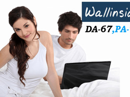 "Write And Publish DO-FOLLOW Guest Post on ""Wallinside"" DA-68"