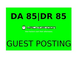 Publish a guest post on HackerNoon DA 85, DR 85