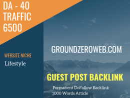 USA Lifestyle Related 6500 Traffic 40 DA Guest post link