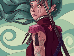 Design and illustrate your character in a comic or manga style