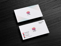 Design double sided modern business card