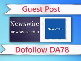 Guest post on Newswire - newswire.com - DA78