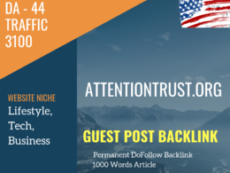 USA Lifestyle, Tech, Business Related 3100 Traffic 44 DA Guest p