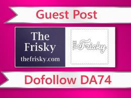 Guest post on The Frisky - thefrisky.com - DA74