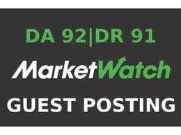 Publish a guest post on MarketWatch DA 92, DR 91