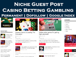 Write and Publish Guest Post on Casino Betting Gambling Blog