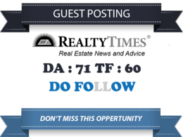 Publish a guest post on RealtyTimes RealtyTimes.com - DA66, PA75