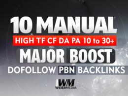 Build 10 Manual HIGH TF CF DA PA 10 To 30+ Dofollow PBN links