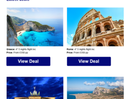 Design and build a HTML template