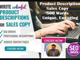 Write 500 words of product descriptions in US or UK English