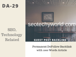 IN SEO, Technology Related 29 DA Guest post link