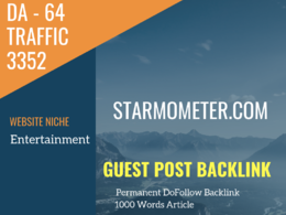 Guest post link on Entertainment Related Traffic-3350