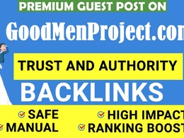 Write and publish Guest Post on goodmenproject.com DA 78 DR 80