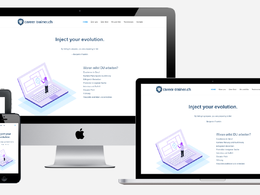 Responsive WordPress website with a customised layout