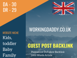 UK Kids, Baby Related Guest post on workingdaddy.co.uk