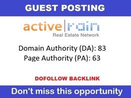 Publish Guest Post on ActiveRain. Activerain.com - DA 85