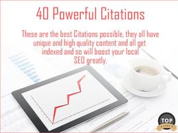 Build 40 Premium and Powerful Local SEO Citations