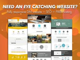 Create a unique website design using DIVI + Resposive + SEO