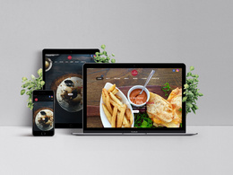 Develop Food Ordering Website Home Page