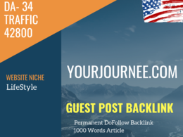 USA LifeStyle Related 42800 Traffic 34 DA Guest post link
