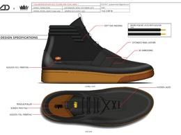 Footwear design Specification Sheet