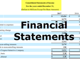 Prepare Financial Statement