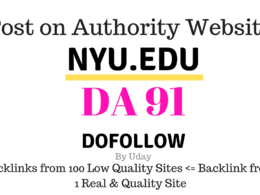 Publish guest post on Nyu.edu, DA91, dofollow backlink