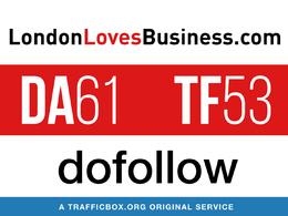 Publish a guest post on londonlovesbusiness.com - DA61