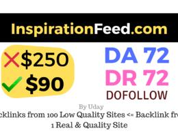 Publish a guest post on InspirationFeed.com DA72, DR72