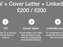 New CV, Cover Letter & LinkedIn Profile