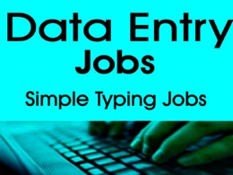 Do data entry and copy typing jobs
