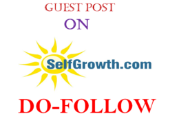 Publish Dofollow guest post on selfgrowth.com DA-77