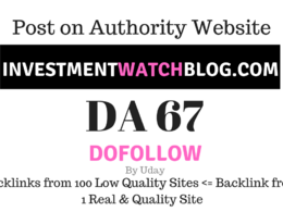 Publish Guest Post on Investmentwatchblog.com DA67