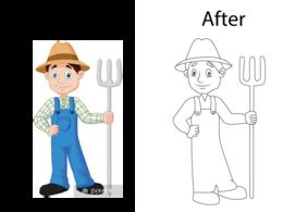 Children's  coloring book illustration