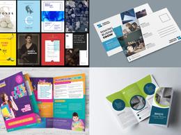 Design eye-catching Flyer/Leaflet/poster/Menu/Brochure