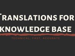 Translation of technical documentation for knowledge base