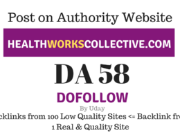 Publish Guest Post on Healthworkscollective.com, DA58