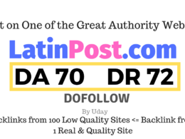 Publish a guest post on Latinpost.com DA70, DR72