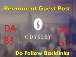 Write Artice & Publish guest Post on theodysseyOnline DA83 Blog