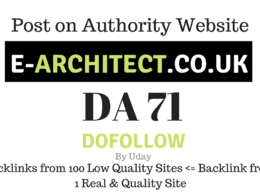 Publish Guest Post on e-architect.co.uk, DA71