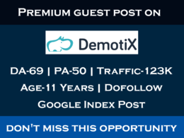 Write & Publish Dofollow Guest on Demotix.com DA 69